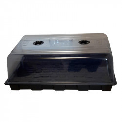Tray + Dôme - Serre moyenne - 39x59x21cm - Platinium
