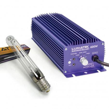 KIT BALLAST PRO LUMATEK 600W DIMMABLE 400V + LAMPE E40