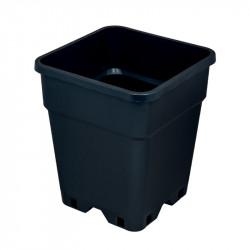 Pot carré en plastique - Noir - 5L - Platinium